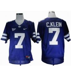 NEW Kansas State Wildcats Collin Klein 7 Purple Big 12 Patch College Football Jerseys