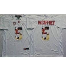 Louisville Cardinals #5 Christian McCaffrey White Player Fashion Stitched NCAA Jersey