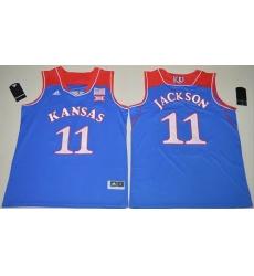 Kansas Jayhawks #11 Josh Jackson Royal Blue Basketball Authentic Stitched NCAA Jersey