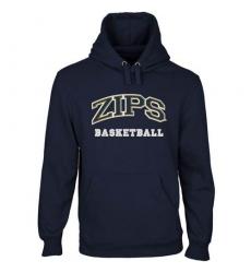 Akron Zips Navy Blue Custom Sport Arch Applique Pullover Hoodie