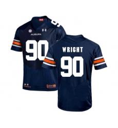 Auburn Tigers 90 Gabe Wright Navy College Football Jersey
