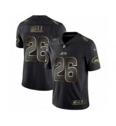 Men New York Jets #26 Le'Veon Bell Black Golden Edition 2019 Vapor Untouchable Limited Jersey