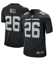 New York Jets #26 LeVeon Bell  Nike Game Jersey – Black