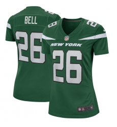 Womens New York Jets #26 Le Veon Bell Nike Game Jersey – Green