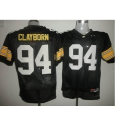 Iowa Hawkeyes #94 Adrian Clayborn Black Stitched NCAA Jersey