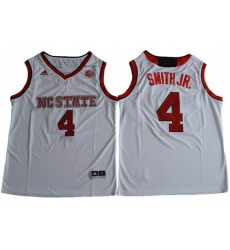 NC State Wolfpack #4 Dennis Smith Jr. White Basketball Stitched NCAA Jersey
