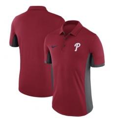 MLB Men's Philadelphia Phillies Nike Red Franchise Polo T-Shirt