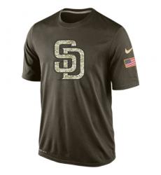 MLB Men's San Diego Padres Nike Olive Salute To Service KO Performance T-Shirt