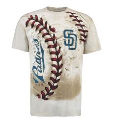 MLB San Diego Padres Hardball Tie-Dye T-Shirt - Cream