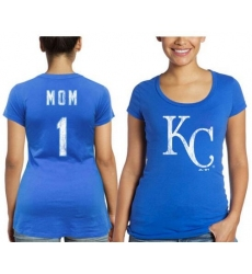MLB Kansas City Royals Majestic Threads Women's Mother's Day #1 Mom T-Shirt - Royal Blue
