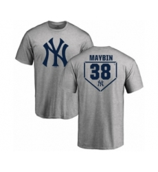 Baseball New York Yankees #38 Cameron Maybin Gray RBI T-Shirt