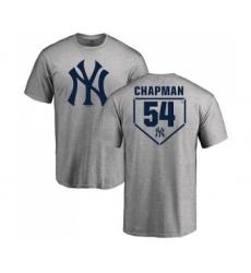 MLB Nike New York Yankees #54 Aroldis Chapman Gray RBI T-Shirt