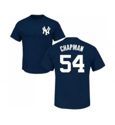 MLB Nike New York Yankees #54 Aroldis Chapman Navy Blue Name & Number T-Shirt