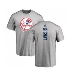 MLB Nike New York Yankees #55 Sonny Gray Ash Backer T-Shirt