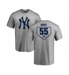 MLB Nike New York Yankees #55 Sonny Gray Gray RBI T-Shirt