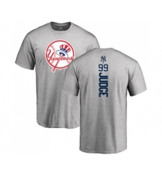 MLB Nike New York Yankees #99 Aaron Judge Ash Backer T-Shirt