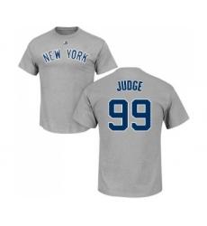 MLB Nike New York Yankees #99 Aaron Judge Gray Name & Number T-Shirt
