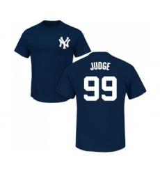 MLB Nike New York Yankees #99 Aaron Judge Navy Blue Name & Number T-Shirt
