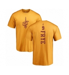 NBA Nike Cleveland Cavaliers #9 Channing Frye Gold One Color Backer T-Shirt