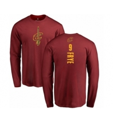 NBA Nike Cleveland Cavaliers #9 Channing Frye Maroon Backer Long Sleeve T-Shirt