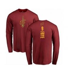 NBA Nike Cleveland Cavaliers #9 Channing Frye Maroon Backer Long Sleeve T-Shirt