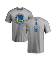 NBA Nike Golden State Warriors #4 Quinn Cook Ash Backer T-Shirt