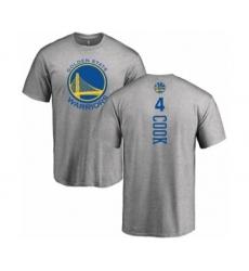 NBA Nike Golden State Warriors #4 Quinn Cook Ash Backer T-Shirt