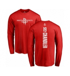 Basketball Houston Rockets #19 Tyson Chandler Red Backer Long Sleeve T-Shirt