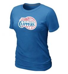NBA Women's Los Angeles Clippers Big & Tall Primary Logo T-Shirt - Light Blue