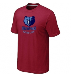 NBA Men's Memphis Grizzlies Big & Tall Primary Logo T-Shirt - Red