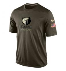 NBA Men's Memphis Grizzlies Nike Olive Salute To Service KO Performance Dri-FIT T-Shirt
