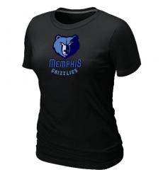 NBA Women's Memphis Grizzlies Big & Tall Primary Logo T-Shirt - Black
