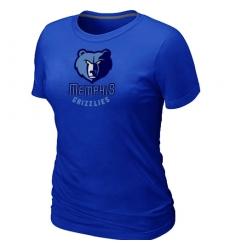 NBA Women's Memphis Grizzlies Big & Tall Primary Logo T-Shirt - Blue