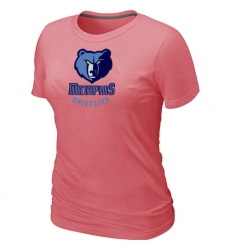 NBA Women's Memphis Grizzlies Big & Tall Primary Logo T-Shirt - Pink