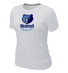 NBA Women's Memphis Grizzlies Big & Tall Primary Logo T-Shirt - White