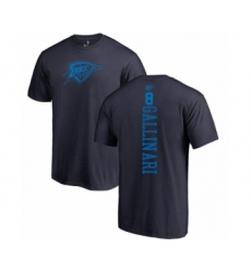 Basketball Oklahoma City Thunder #8 Danilo Gallinari Navy Blue One Color Backer T-Shirt