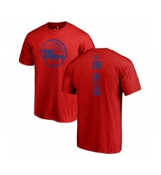 Basketball Philadelphia 76ers #18 Shake Milton Red One Color Backer T-Shirt