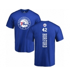 Basketball Philadelphia 76ers #42 Al Horford Royal Blue Backer T-Shirt