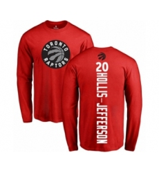 Basketball Toronto Raptors #20 Rondae Hollis-Jefferson Red Backer Long Sleeve T-Shirt