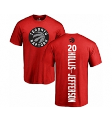 Basketball Toronto Raptors #20 Rondae Hollis-Jefferson Red Backer T-Shirt