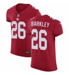 Men's Nike New York Giants #26 Saquon Barkley Red Alternate Vapor Untouchable Elite Player NFL Jersey