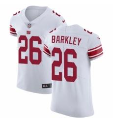Men's Nike New York Giants #26 Saquon Barkley White Vapor Untouchable Elite Player NFL Jersey