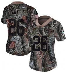 Women's Nike New York Giants #26 Saquon Barkley Limited Camo Rush Realtree NFL Jersey