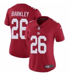 Women's Nike New York Giants #26 Saquon Barkley Red Alternate Vapor Untouchable Elite Player NFL Jersey