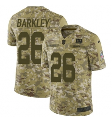 Youth Nike New York Giants #26 Saquon Barkley Limited Camo 2018 Salute to Service NFL Jersey