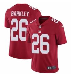 Youth Nike New York Giants #26 Saquon Barkley Red Alternate Vapor Untouchable Elite Player NFL Jersey