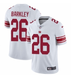 Youth Nike New York Giants #26 Saquon Barkley White Vapor Untouchable Limited Player NFL Jersey