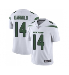 Men's New York Jets #14 Sam Darnold White Vapor Untouchable Limited Player Football Jersey