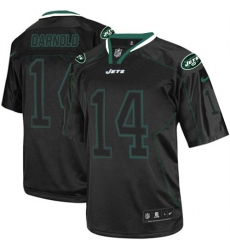 Men's Nike New York Jets #14 Sam Darnold Elite Lights Out Black NFL Jersey