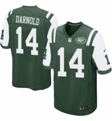 Men's Nike New York Jets #14 Sam Darnold Game Green Team Color NFL Jersey